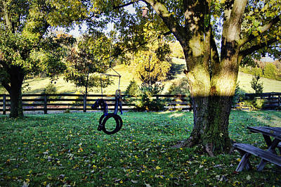 Nature Photograph - Backyard Retreat by Cricket Hackmann