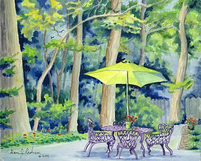 Art Print featuring the painting Backyard Retreat by Dan Redmon
