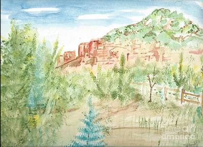 Painting - Backyard Sedona by Reed Novotny