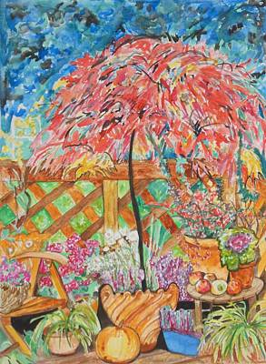 Painting - Backyard Summer Splendid by Esther Newman-Cohen