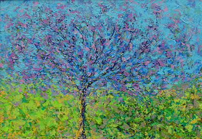 Painting - Purple Tree by Kat Griffin
