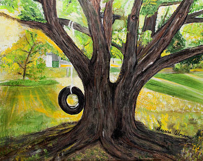 Painting - Backyard Tree Memories by Susan Abrams