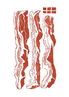 Cookbook Digital Art - Bacon by David Esslemont