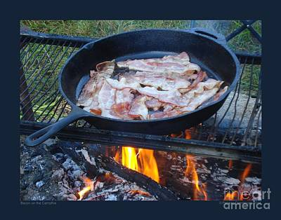 Photograph - Bacon On The Campfire by Patricia Overmoyer