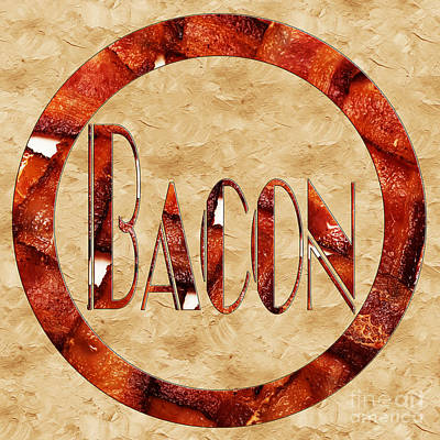 Photograph - Bacon Typography 1 by Andee Design