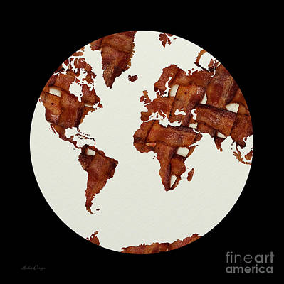 Mixed Media - Bacon World 1 by Andee Design
