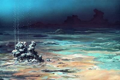 Hydrothermal Photograph - Bacterial Mats by Richard Bizley