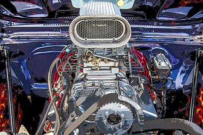 Street Rod Photograph - Bad Boy Blower Motor by Rich Franco