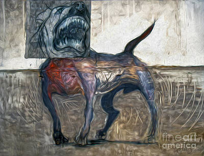 Painting - Bad Dog by Gregory Dyer