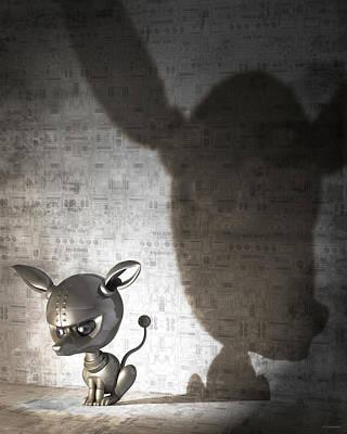 Bad Dog Digital Art - Bad Dog by Vanessa Bates
