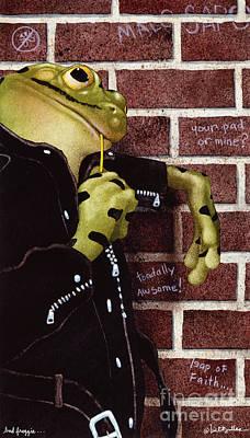Bad Froggie... Art Print by Will Bullas