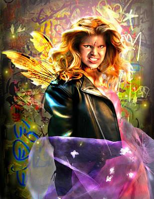 Digital Art - Bad Girl Fae  by Nada Meeks