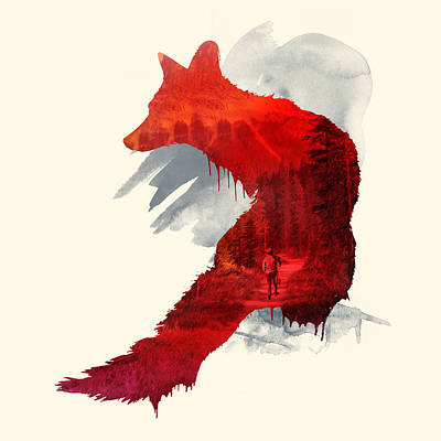 Red Fox Mixed Media - Bad Memories by Robert Farkas
