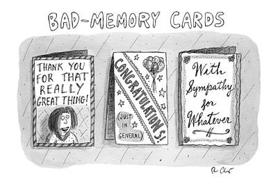 Bad Memory Cards Art Print by Roz Chast