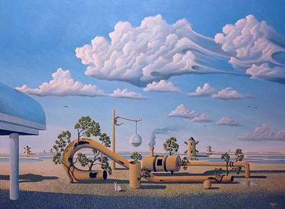 Surrealism Royalty Free Images - Bad Play Royalty-Free Image by Robert Byers