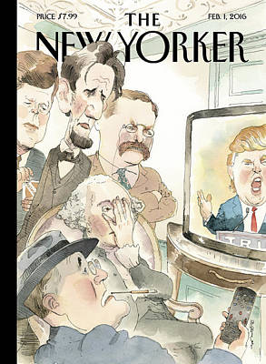 President Painting - Bad Reception by Barry Blitt