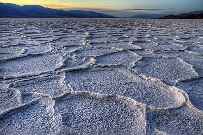 Photograph - Bad Water At Sunset Death Valley by Pierre Leclerc Photography
