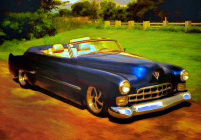Caddy Painting - Badass Cad by Michael Pickett