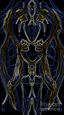 Art Print featuring the digital art Badge Variation 4 by Devin  Cogger