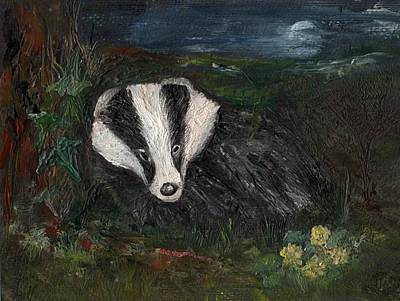 Painting - Badger by Carol Rowland