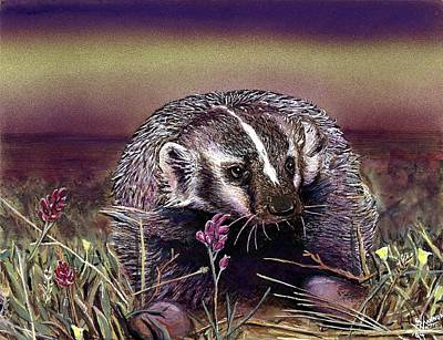 Wyoming Painting - Badger by Shannon Watts