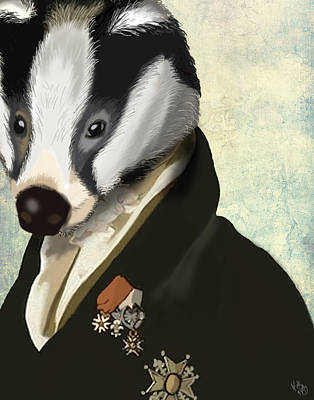 Badger The Hero Art Print by Kelly McLaughlan