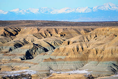 Photograph - Badland View Of Wind Rivers by Eric Nielsen