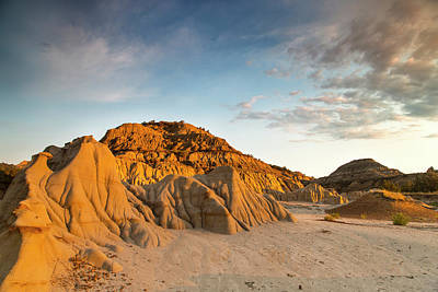 Theodore Photograph - Badlands At First Light In Theodore by Chuck Haney