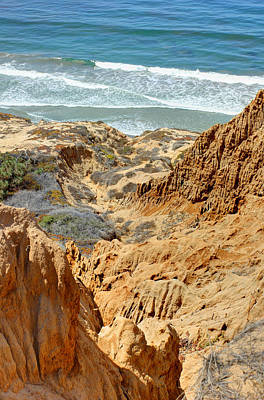 By Jackie Photograph - Badlands At The Beach by Jackie Novak