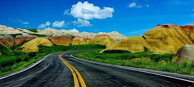 Photograph - Badlands Drive by Benjamin Yeager