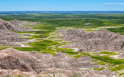 Photograph - Badlands Expanse by John M Bailey