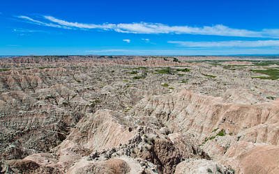 Photograph - Badlands Hat Butte Overlook by John M Bailey