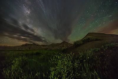 Badlands National Park Photograph - Badlands Meteor by Aaron J Groen
