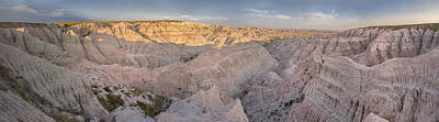 Red Rock Photograph - Badlands National Park Color Panoramic by Adam Romanowicz