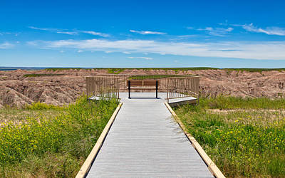 Photograph - Badlands Overlook by John M Bailey