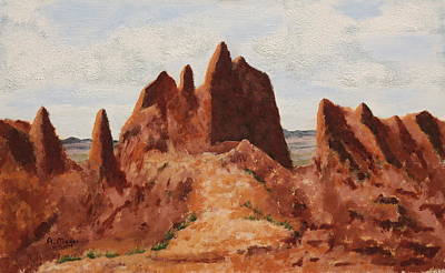 Painting - Badlands Pinnacles by Alan Mager