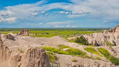 Photograph - Badlands Tableau by John M Bailey