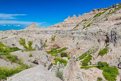 Photograph - Badlands Trekking by John M Bailey