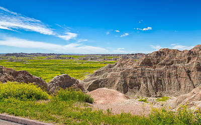 Photograph - Badlands Vista by John M Bailey