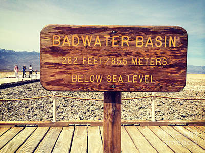 Photograph - Badwater by Colin and Linda McKie