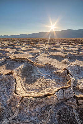 Photograph - Badwater Salt Formation At Sunset by Pierre Leclerc Photography
