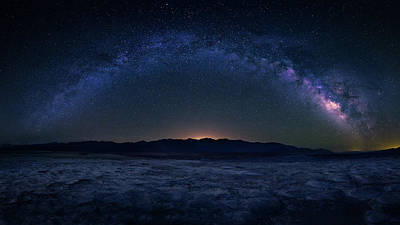 Death Valley Photograph - Badwater Under The Night Sky by Michael Zheng