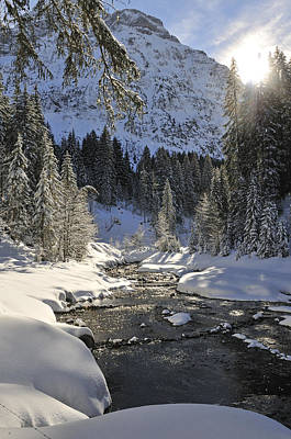 Photograph - Baergunt Valley Kleinwalsertal Austria In Winter by Matthias Hauser