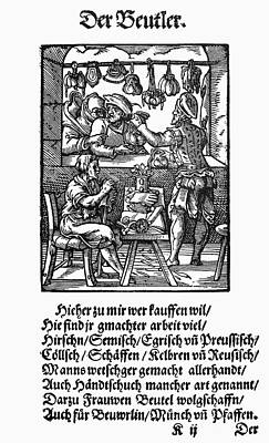 Display Window Painting - Bag Makers, 1568 by Granger