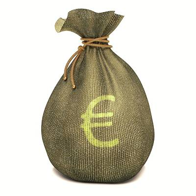 Bag With Euro Sign Art Print by Ktsdesign