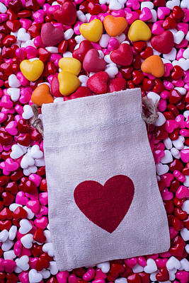 Photograph - Bag With Heart Candy by Garry Gay