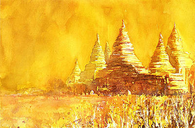 Painting - Bagan Heat by Ryan Fox