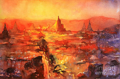 Painting - Bagan Ruins by Ryan Fox