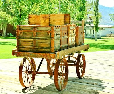 Photograph - Baggage Cart by Marilyn Diaz