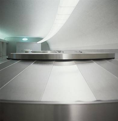 Silver Photograph - Baggage Conveyor Belt by Horst P. Horst